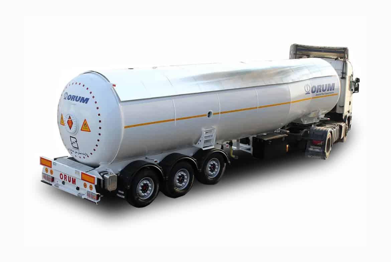 تریلر تانکر حمل گاز مایع